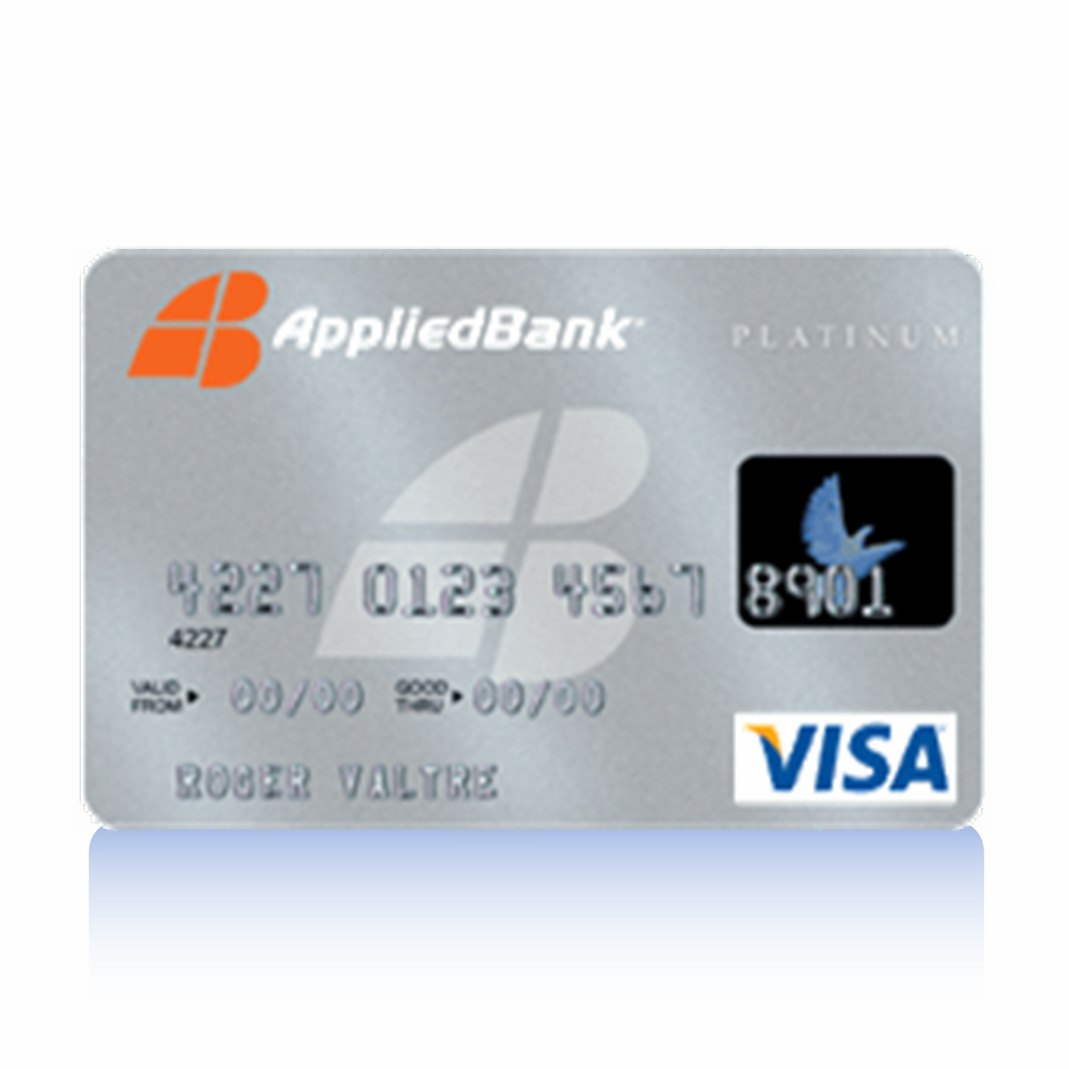 platinum zero secured visa credit card from applied bank - Visa Secured Credit Card